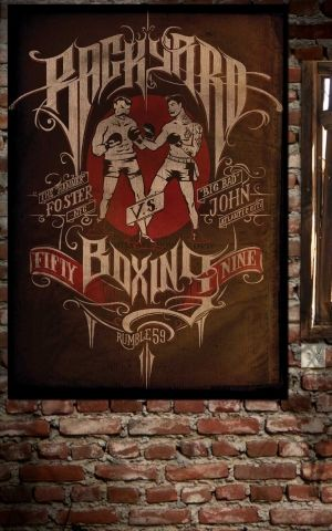 Rumble59 Poster - Backyard Boxing
