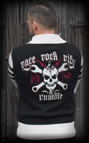 Rumble59 - Racing Sweater - Race - Rock - Ride - offwhite