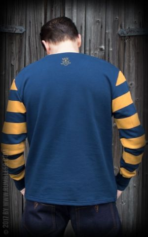 Rumble59 - Racing Sweatshirt - blau/senf