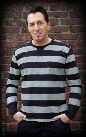 Rumble59 - Sweatshirt - gestreift schwarz/grau