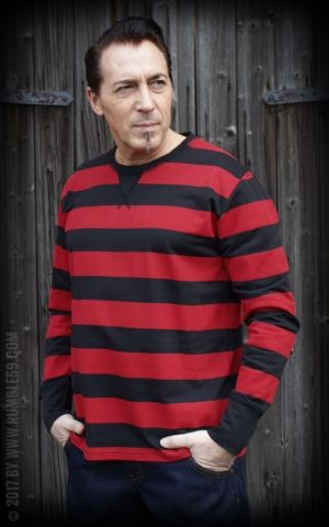 Rumble59 - Sweatshirt - striped black/red