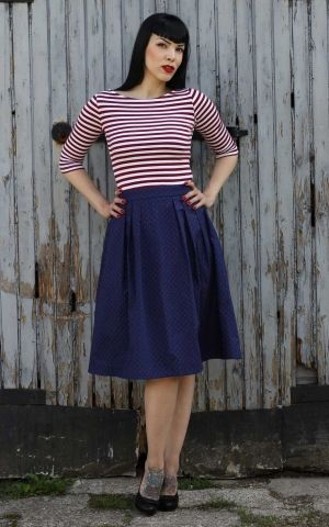 Rumble59 Ladies - Sailor Swing Dress - All hands on deck!
