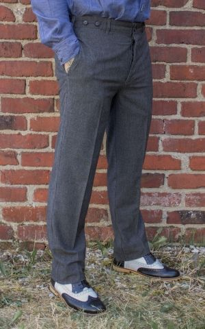 Rumble59 - Vintage Slim Fit Pants Providence - gris/noir