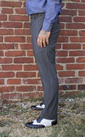 Rumble59 - Vintage Slim Fit Pants Providence - grau/schwarz