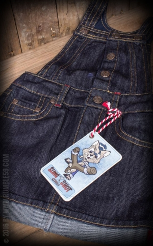 Rumble59 - Sling Shot Rebels - Kids Jeanskleid | Latzkleid