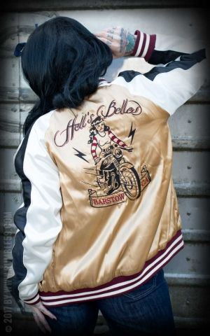 Rumble59 - Souvenir Jacket | 2-in-1 Satin Bomberjacke Hells Belles