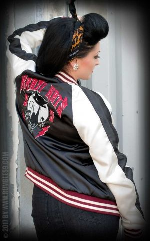 Rumble59 - Souvenir Jacket | 2-in-1 Satin Bomberjacke Krazy Katz