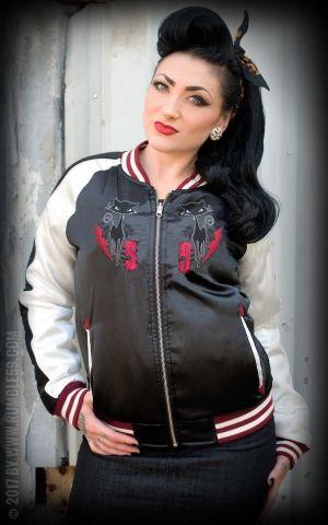 Rumble59 - Souvenir Jacket | 2-in-1 Satin Bomberjacke Krazy Katz