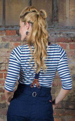 Rumble59 Ladies - Striped Shirt - Lets be Audrey! - bleu