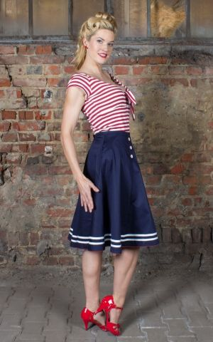 Rumble59 Ladies - Striped Shirt - Lets be Marilyn!