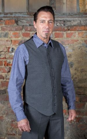 Rumble59 - Vintage Vest Long Island - grey/black