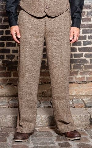 Rumble59 - Vintage Loose Fit Pants Sacramento - beige/marron