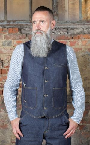 Rumble59 - RAW Denim Vest - Dapper Workman