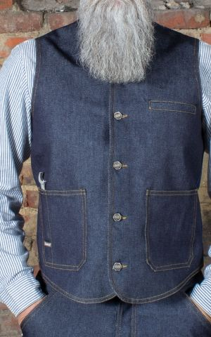 Rumble59 - RAW Denim Weste - Dapper Workman