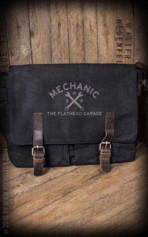 Rumble59 - Canvas Workerbag - The Flathead Garage - schwarz