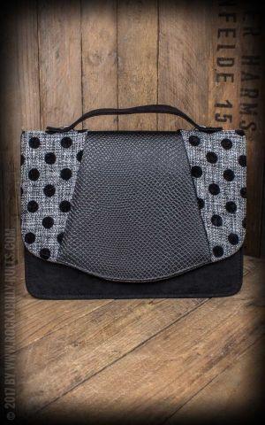 Ruby Shoo - Handtasche Belfast mit Polkadots, schwarz-weiß