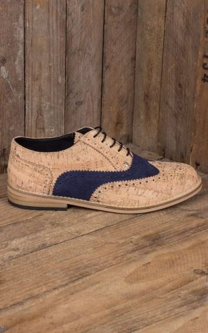 Steelground de liège Chaussures Saddle, beige bleu
