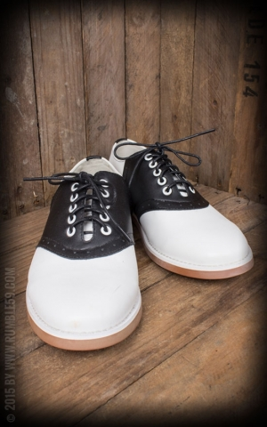Rumble59 - Saddle Shoes for Ladies - Black Betty