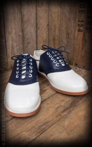 Rumble59 - Saddle Shoes for Ladies - Blue Bell