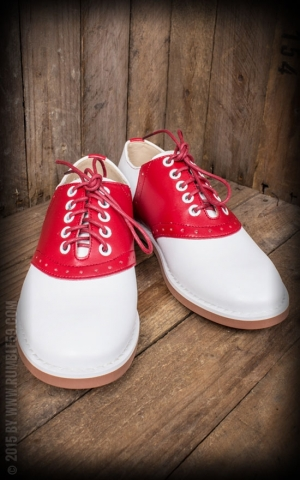 Rumble59 - Saddle Shoes for Ladies - Cherry Red