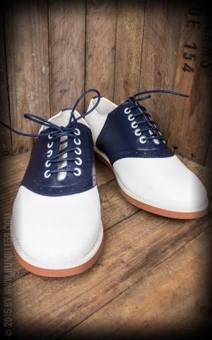 Rumble59 - Saddle Shoes for Men - Blue Bird