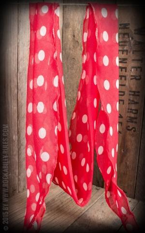 Schal / Halstuch / Haarband Polkadot, rot weiß