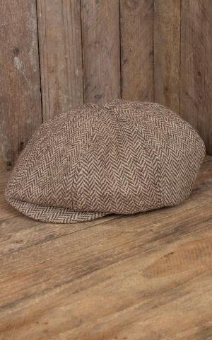 Rumble59 - Slugger Cap - Herringbone beige/brown