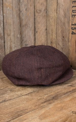 Rumble59 - Slugger Cap - Herringbone brown/blue