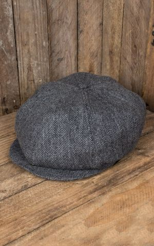 Rumble59 - Slugger Cap - Herringbone grey/black