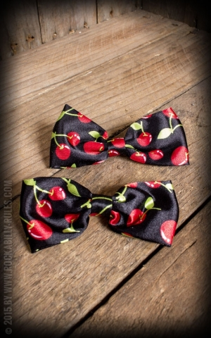 Bow HairClips Cherries