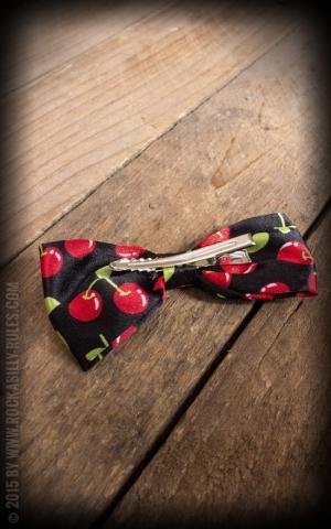 Bow HairClips Cherries