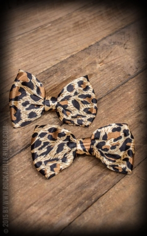 Bow HairClips Leopard