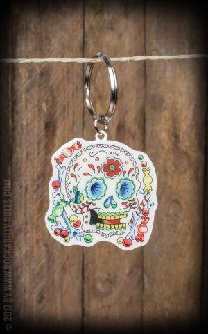 Schlüsselanhänger Sunny Buick Candy Sugar Skull
