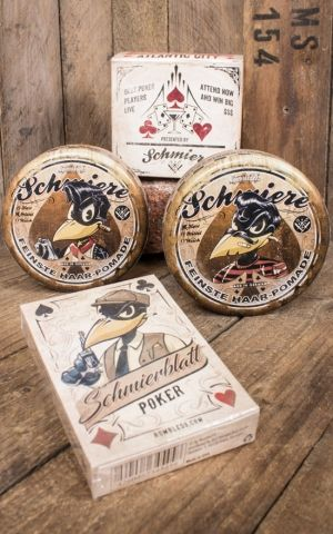 Rumble59 - Schmiere - 2er Set Poker Pomade mit Pokerblatt