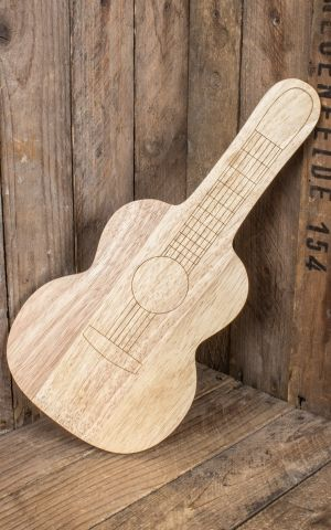 Serving board | Wooden cutting board - guitar