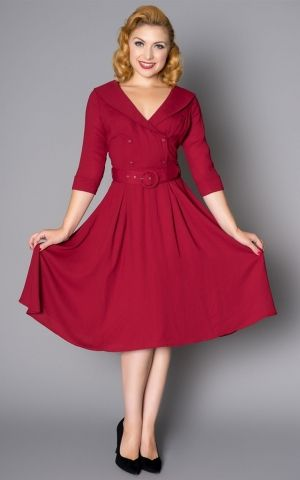 Sheen Clothing Robe Rosie, rouge