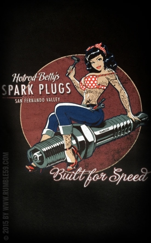 Rumble59 - Hotrod Bettys Spark Plugs - Ladies T-Shirt