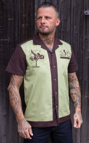 Rumble59 - Lounge Shirt - Mans Ruin - brown/pastel green