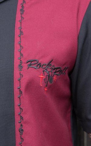 Rumble59 - Classic Shirt - RocknRoll Desert - bordeaux