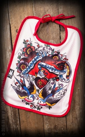 Six Bunnies Baby Bib Love my Family - Mom and Dad