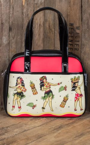 Sourpuss Clothing Handbag - Sailor Jerry Hula Girls