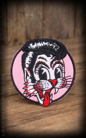 Sourpuss Patch - Stray Cats Pink Cat