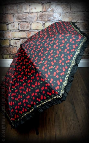 Sourpuss Umbrella Leopard Cherries