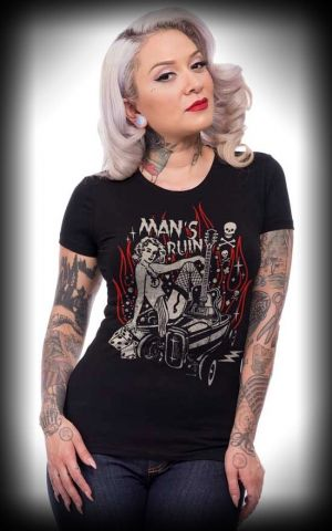 Steady - Ladies T-Shirt Mans Ruin