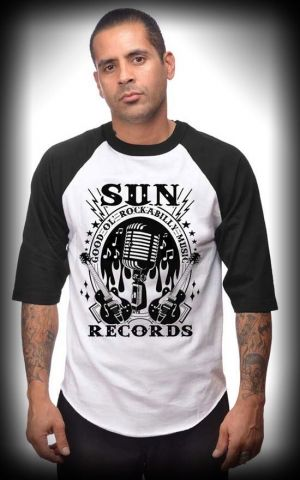 Steady - T-Shirt Homme Raglan Sun Records, 3/4 manches