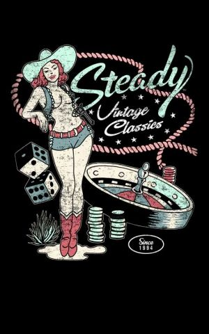 Steady - Mens  T-Shirt Vintage Classics