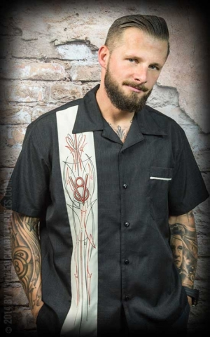 Steady Shirt - V8 Pinstripe Button Up