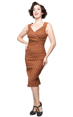 Steady Pencil Skirt Kleid Polkadot Diva Dress