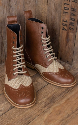 Steelground vegan lace-up boots Gatsby