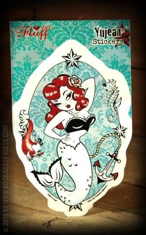 Aufkleber - Molly die Meerjungfrau